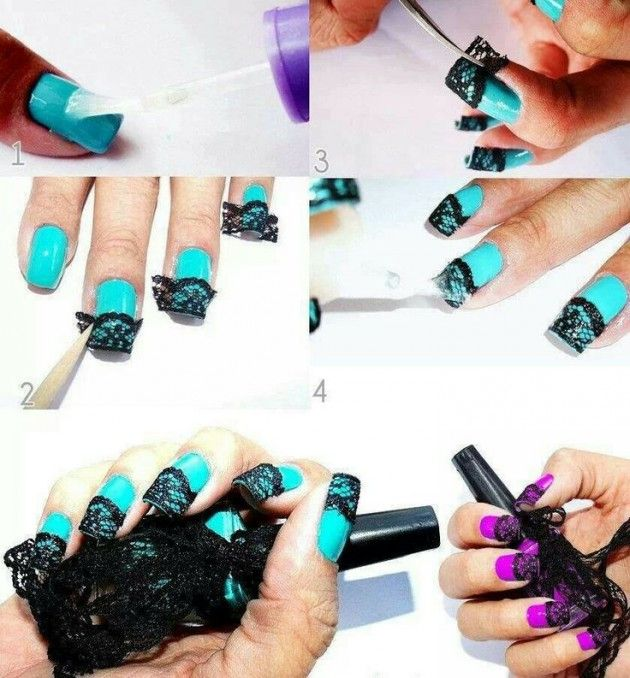 17 Best Ideas About Lace Nail Design On Pinterest