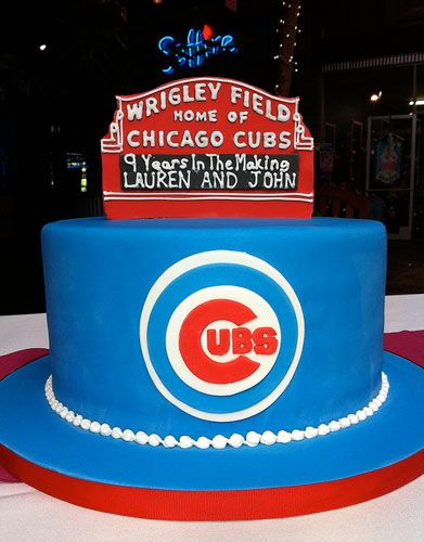 This Cubs cake hits it out of the field!