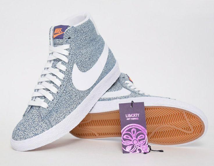 #Nike Blazer Liberty White Blue #sneakers