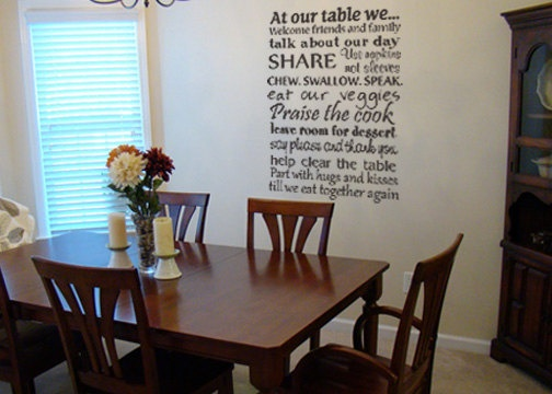 Table Manners Wall Decal By LittleCreekMarket On Etsy 3200 Dining Room