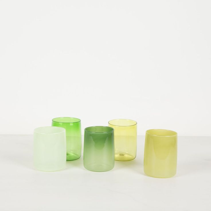 Green Drinking Glasses - Monmouth   $55 each from tessuti