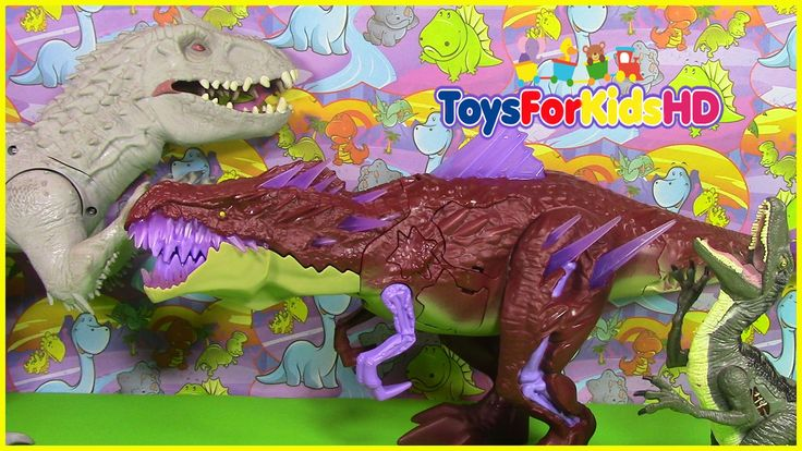 Videos de dinosaurios para niños juguetes de Max Steel T RexTroyer juguetes de dinosaurios ToysForKi