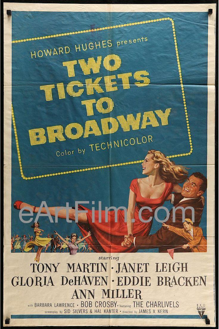 Two Tickets To Broadway-Mamie Van Doren-Janet Leigh-Vera Miles-1951-27x41