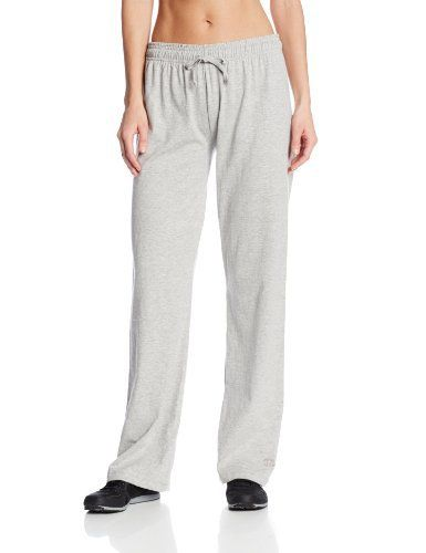 Champion Women's Jersey Pant, Oxford Grey, Small - http://www.exercisejoy.com/champion-womens-jersey-pant-oxford-grey-small/athletic-clothing/