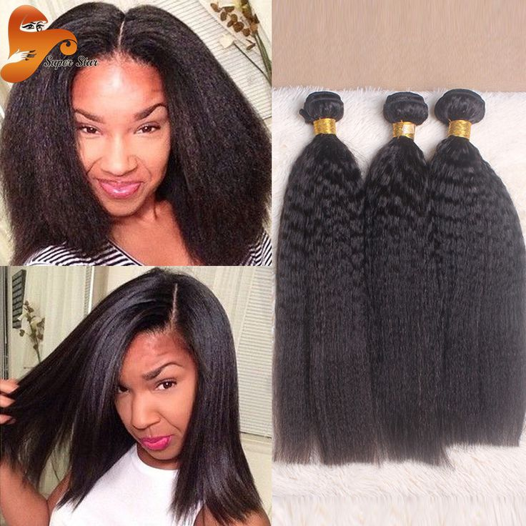16 Best Kinky Straight Images On Pinterest Natural Hair Braid