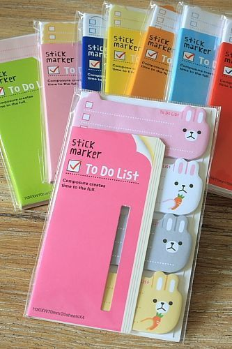 Bunny To Do List Stickies