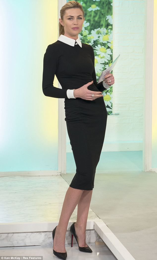 Tiny: Abbey Crouch showed off her skinny figure as she appeared on This Morning on Friday