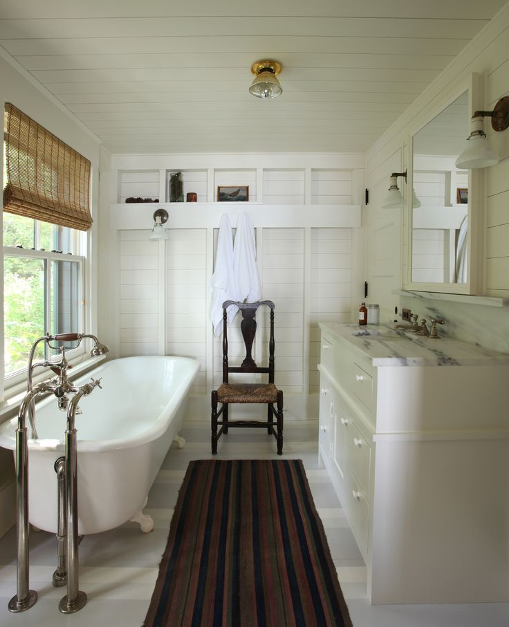 I love the shelves with the towel hooks!  Great for the cabin