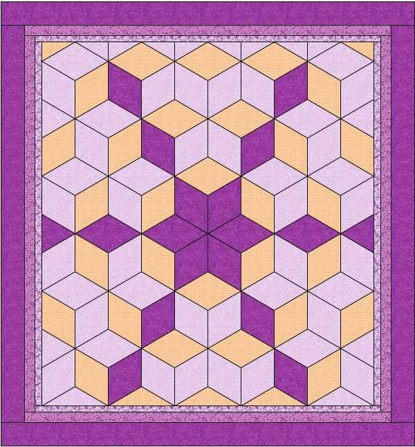 108 Best Quilts Tumbling Blocks Images On Pinterest