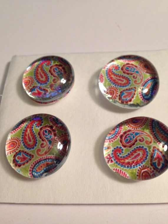 Glass Decorative Tacks/Push by BarbarasLaborofLove on Etsy