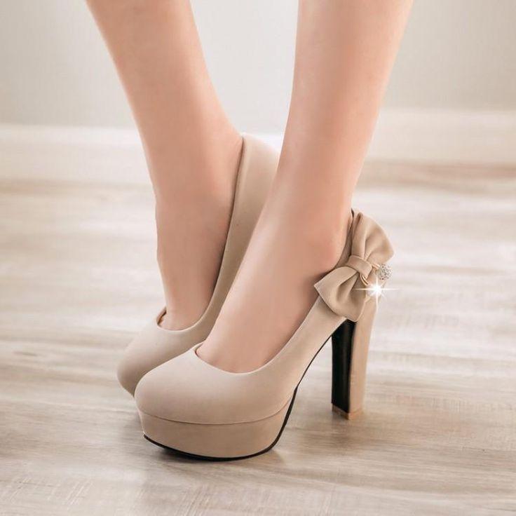 Fliege Strass Plattform Heels hochhackige Schuhe für Frauen 4344 – #euro #Flieg