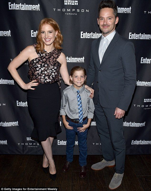 Say hello to my little friend: She also posed up with Smurfs star Jacob Tremblay and director Scott Cooper