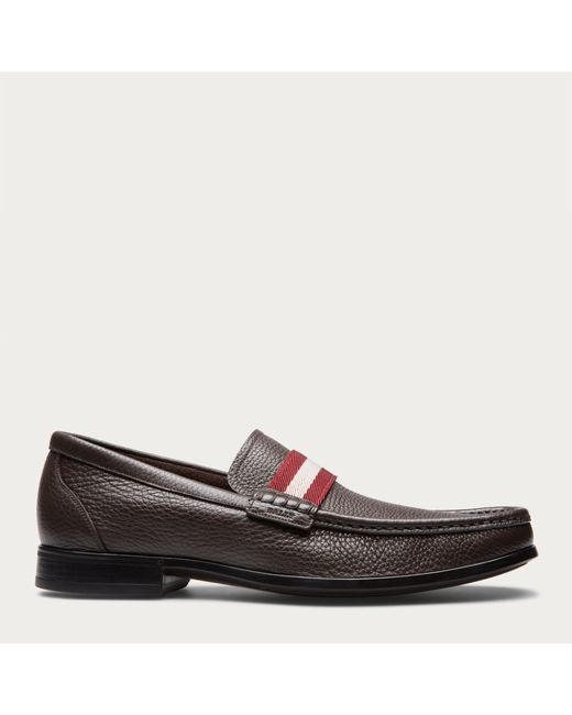 Bally | Brown Tesly Men's Leather Loafer In Safari for Men | Lyst