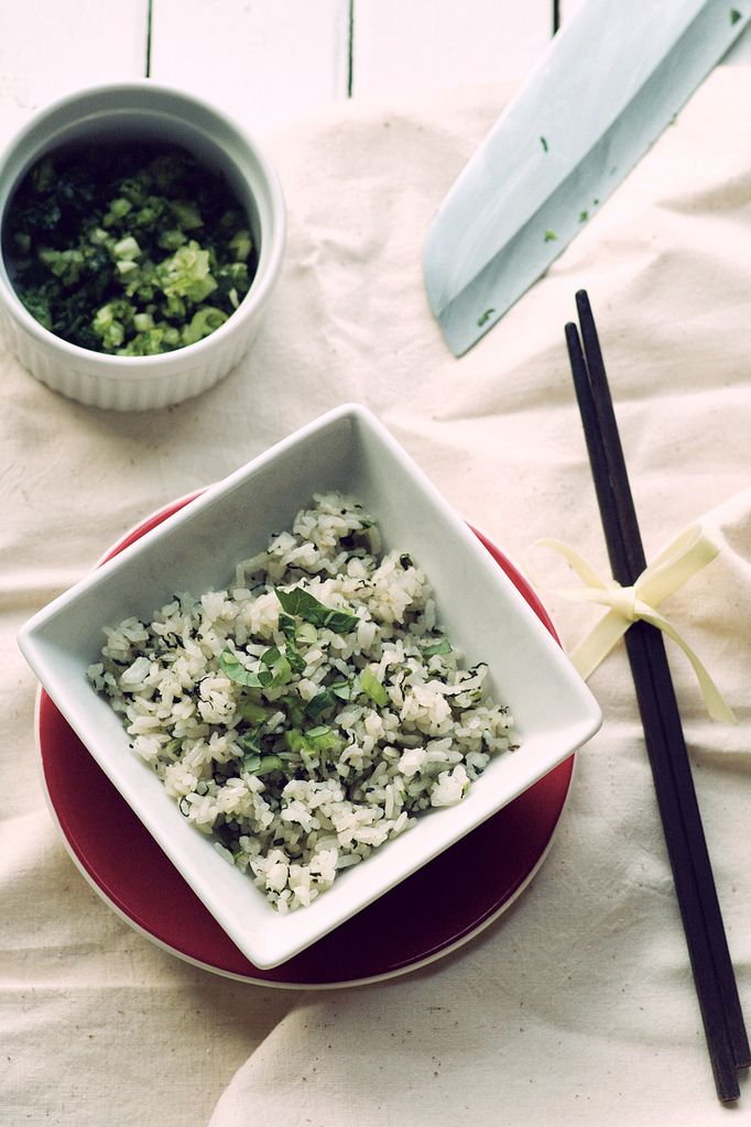 Pickled mustard greens (芥菜) in fried rice