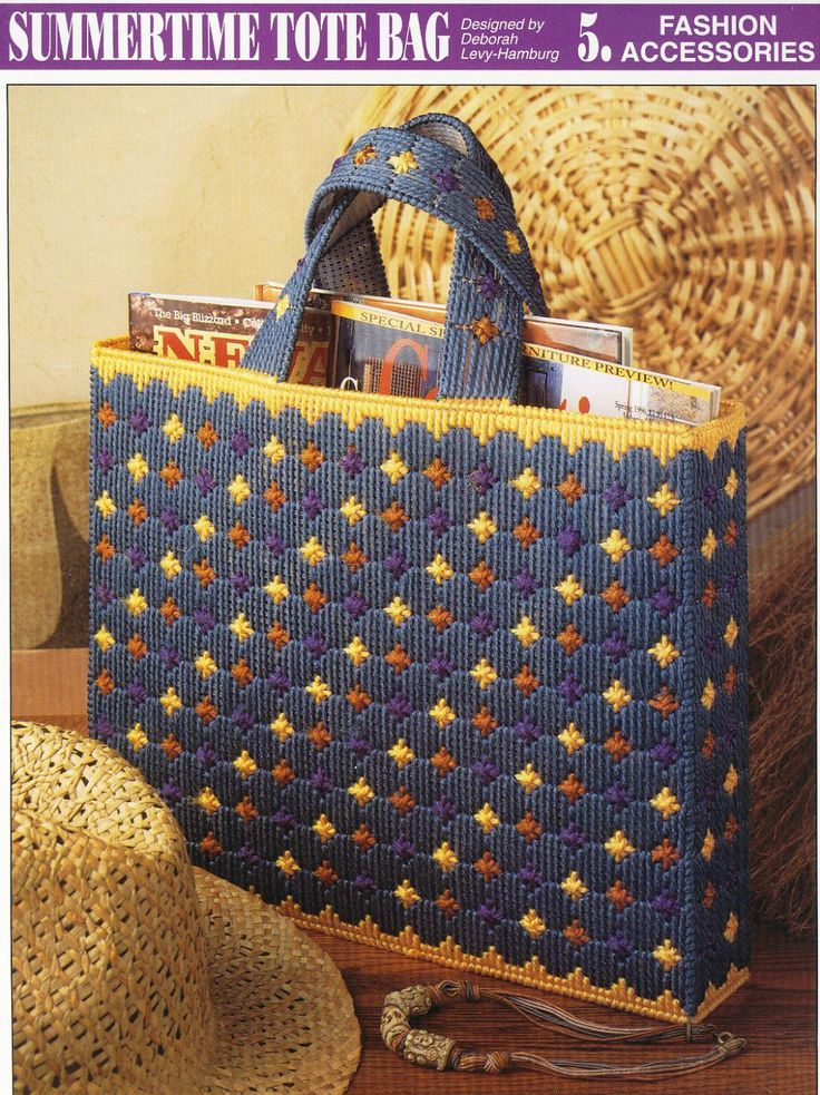 images of plastic canvas tote bag patterns | Summertime Tote Bag Plastic Canvas Pattern by needlecraftsupershop Sorry no pattern available, this is for inspiration only