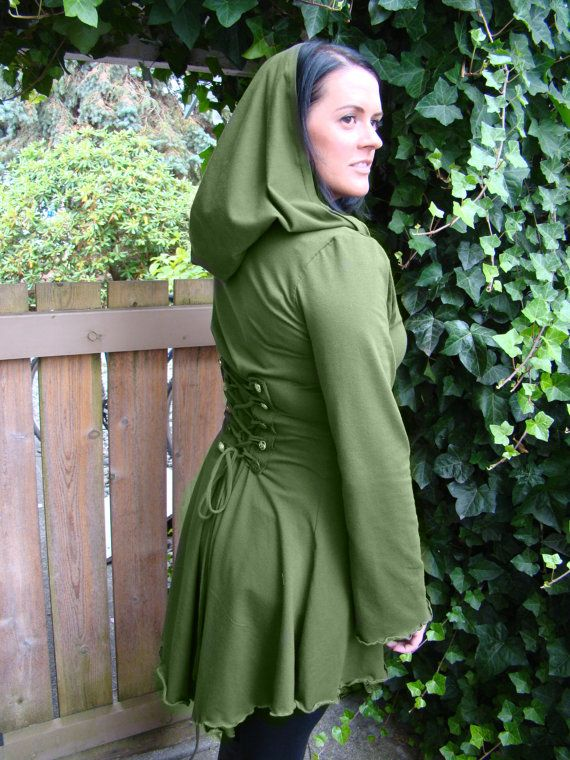 Green Fairy  pixie steampunk cloak jacket by FayeTalitycouture, $115.00