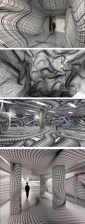 Vertigo-Inducing Room Illusions by Peter Kogler