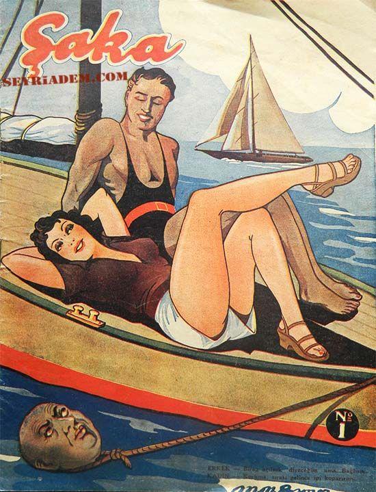 Şaka mizah dergisi-Cemal Erksan tarafından yayımlanan dergide Togo, Necmi Rıza, Zahir Güvemli gibi çizerler eserlerini yayımlamıştır. Genellikle magazin – mizah türünde eserlere yer veren Şaka dergisinin ilk sayı yayım tarihi 4 Teşrin 1 (Ekim) 1940'dır. Şaka dergisi toplam 466 sayı yayımlanmıştır.