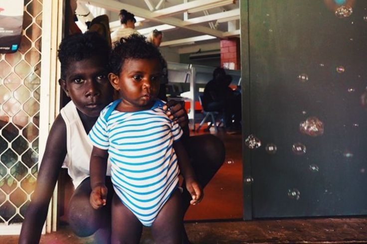 Two brothers hanging out on Tiwi Islands www.takeheart.tv. Photo from Fat Mum Slim