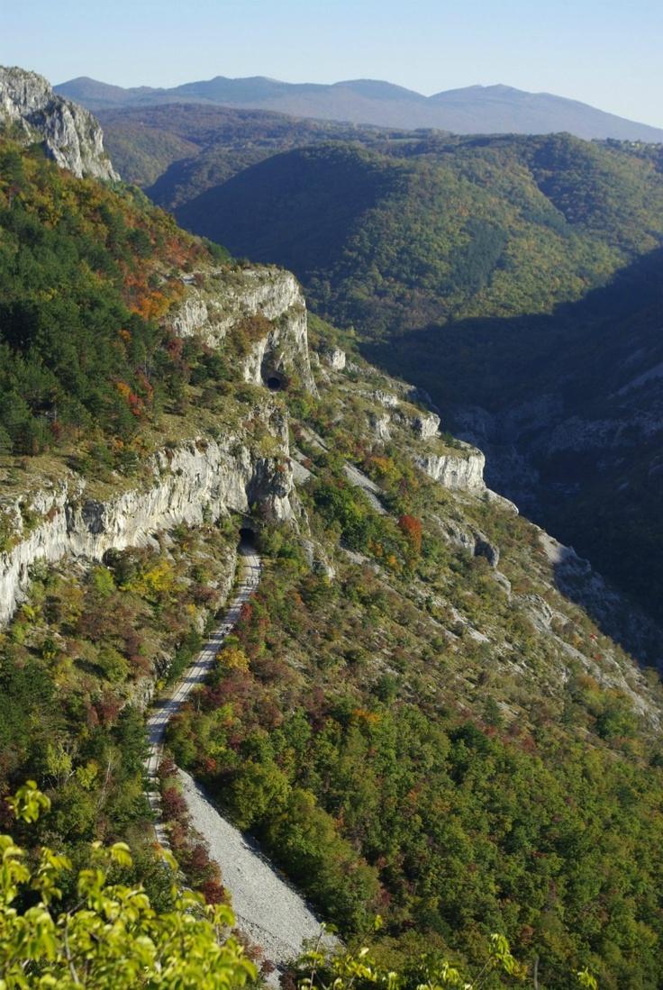 Val Rosandra (in sloveno: Dolina Glinščice) Una valle che divide geograficamente il Carso dall'Istria.