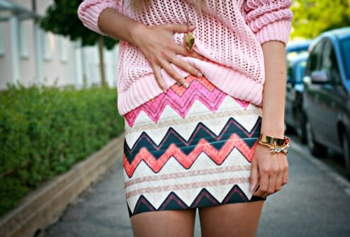 : Sweaters, Minis Skirts, Dreams Closet, Fashion Style, Clothing, Chevron Skirts, Tribal Skirts, Tribal Prints, Cute Skirts