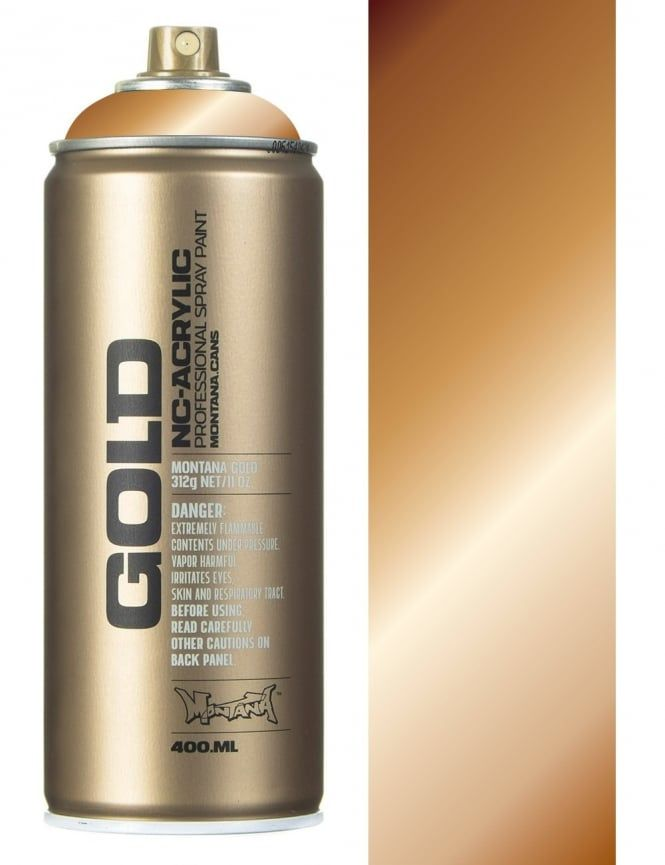 Montana Gold Copper Chrome Spray Paint - 400ml - Spray Paint Supplies from Fat Buddha Store UK