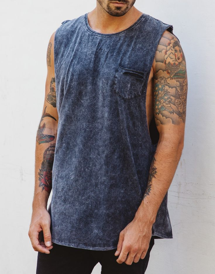 Naken Shredding Muscle Tee Charcoal