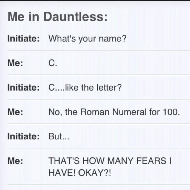 why i could never be dauntless... ~Divergent~ ~Insurgent~ ~Allegiant~