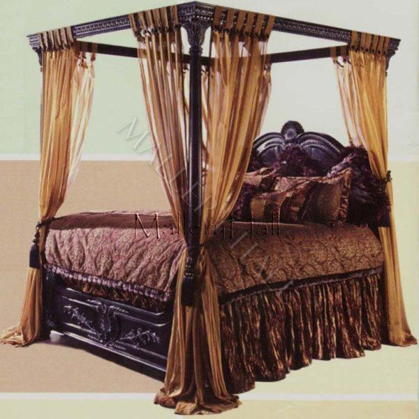 Canopy Bedroom Curtains: Black Canopy Beds Old World