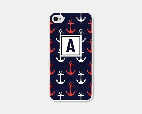 Nautical Phone Case Monogram Phone Case Anchor Samsung Galaxy