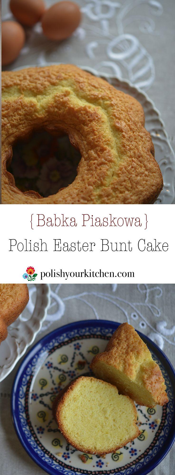 Simple recipe for favorite Polish dessert: Babka. Sweet, light and soft cake, slightly lemony often prepared for Polish Easter or Christmas. Recipe by Anna @polishyourkitchen.