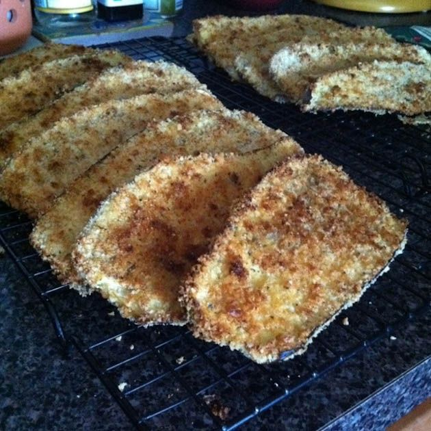 Baked Breaded Eggplant-recipe-Freeze for easy re-use later!