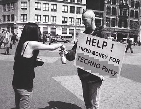 help i need money for techno party