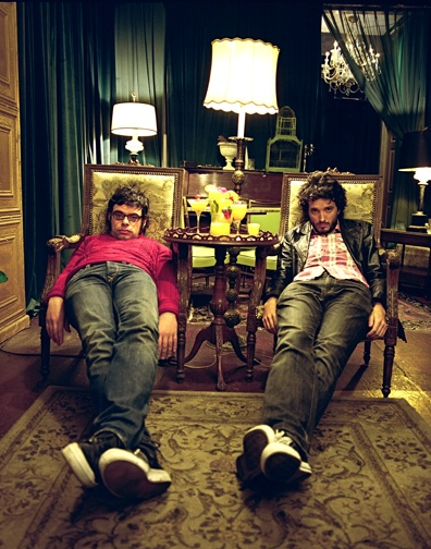 The Flight of the Conchords-Jermaine Clement and Brett McKenzie.