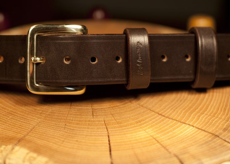 One of many hand stitched bridle leather belts. this one is unlined.