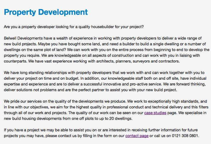 Are you a #property #developer? www.belwell.co.uk
