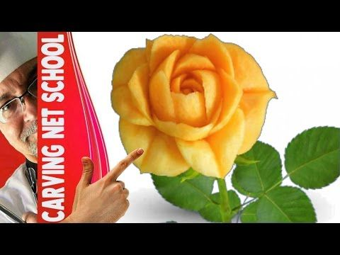 ♛ Lesson 15, Fruit & veg Carving, Escultura em frutas e legumes, การแกะสลักผลไม้, 水果雕刻, Ukiran buah - YouTube