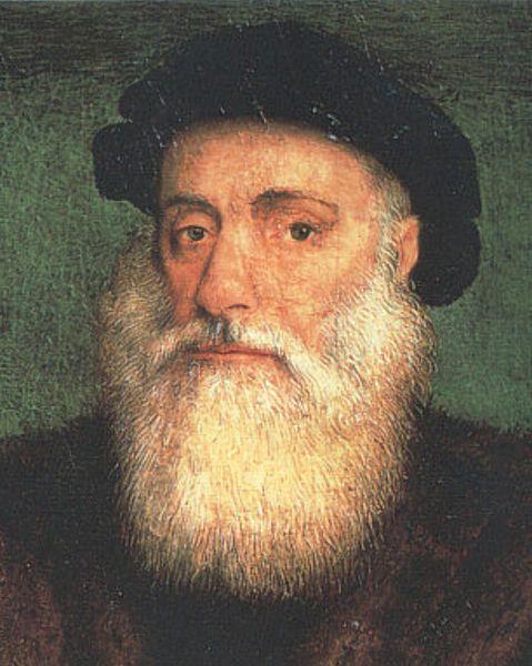 Vasco da Gama nació en 1460 o 1469 y murió en Cochin, India el 24 de diciembre de 1524. En la era de los descubrimientos, se destacó por ser el comandante de los primeros barcos para navegar directamente desde Europa a la India, el más largo océano travesía hasta entonces llevó a cabo. En la vida más tarde fue gobernador de la India portuguesa con el título de virrey.