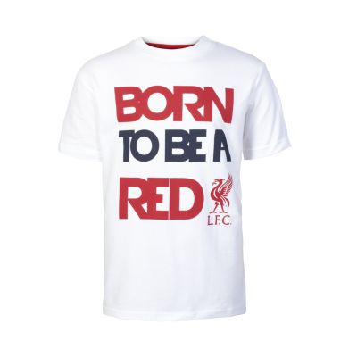 LFC Junior Born To Be Red Tee | Clothing | Liverpool FC Official Store