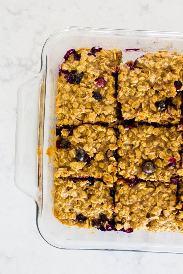 Blueberry Oatmeal Anytime Bars.  These healthy oat filled bars make a great breakfast, snack or dessert.  Try them! | immaEATthat.com