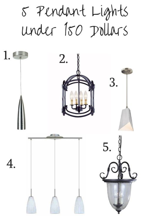 5 pendant lights under 150 dollars http we got lites