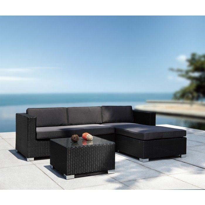Coiba Modern Patio Sectional Sofa and Coffee Table