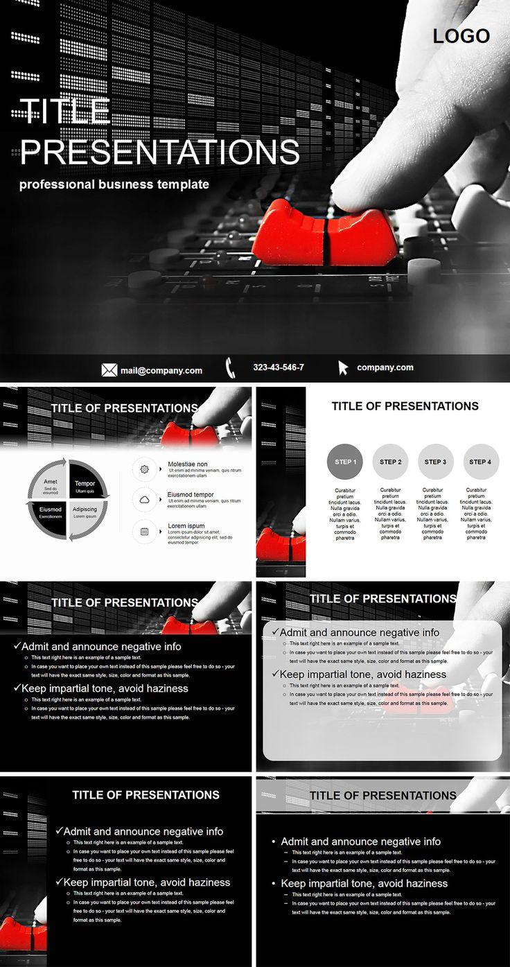 Recording Studio Powerpoint Template Keynote Template Powerpoint Templates Powerpoint Recording studio business plan template