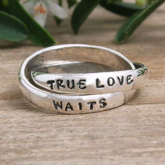 Purity Ring Girl's Purity Ring Christian Purity by NelleandLizzy