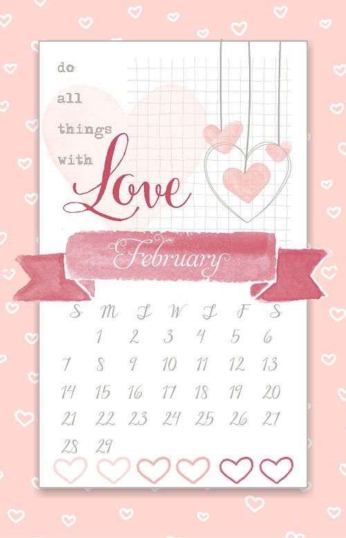 Diy Calendar Background : February desktop calendars swimming in stamps