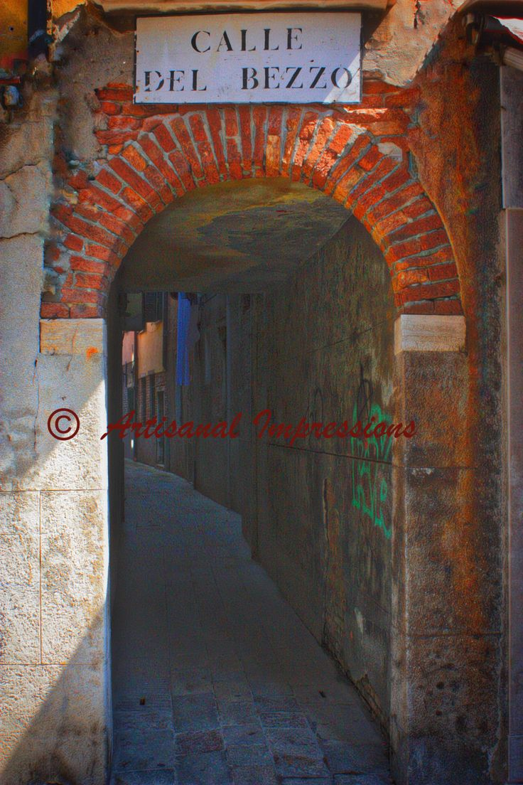 Tunnel of Love, Venice walkways, Venice tunnels, Venice bridges, Lovers' Lane, Romantic Venice, Calle Bezzo, Kiss and Tell, Love in Italy by ArtisanalImpressions on Etsy