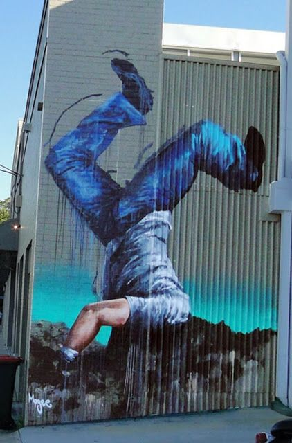 Fintan Magee New Mural In Newstead, Australia