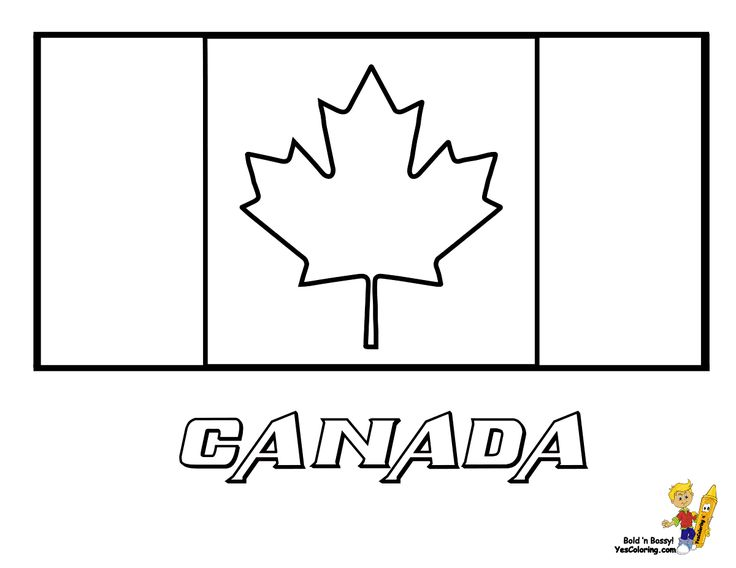 Striking Flag Printables Of Canada With Images Flag Coloring