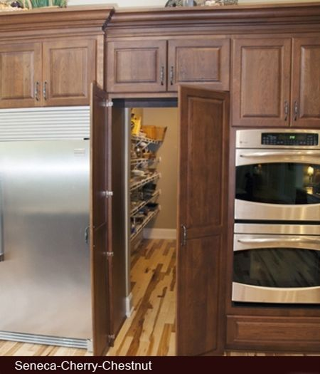 Hidden pantry. Yeah that's just cool!