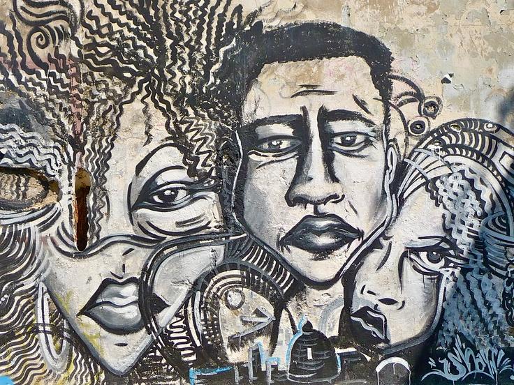 Graffiti in Cartagena, Colombia
